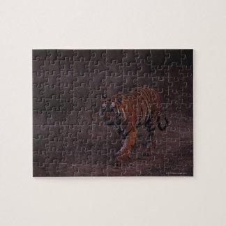 Tiger Walks along Trail Jigsaw Puzzle