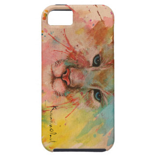 Tiger watercolor paint cover water color wind art  tough iPhone 5 case