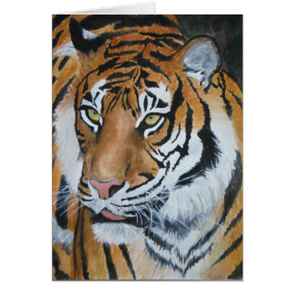 Tiger Watercolour Greeting Card