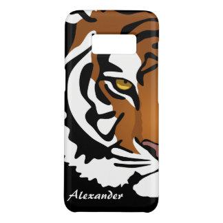Tiger, Wild Cat on Black Case-Mate Samsung Galaxy S8 Case