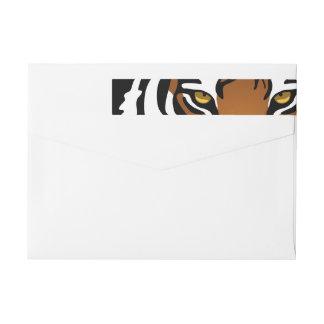 Tiger, Wild Cat on Black Wrap Around Label