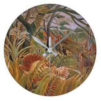 Tiger Wildlife Jungle Rousseau Animal Wall Clock
