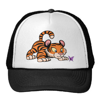 Tiger with butterfly cap