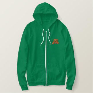 Tiger with claws embroidered hoodie