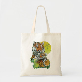 Tiger with Cub Tote Bag