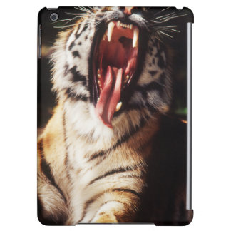 Tiger with mouth open