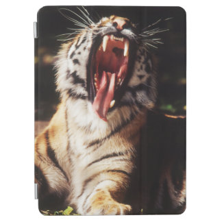 Tiger with mouth open iPad air cover
