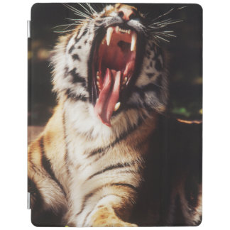 Tiger with mouth open iPad cover