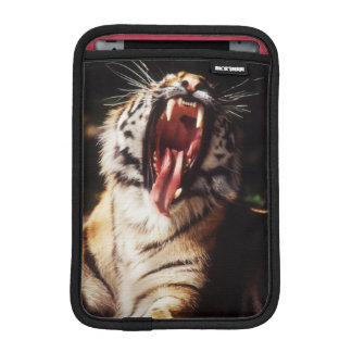 Tiger with mouth open iPad mini sleeve