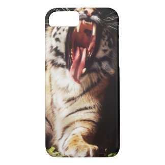 Tiger with mouth open iPhone 7 case