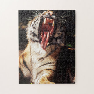 Tiger with mouth open jigsaw puzzle