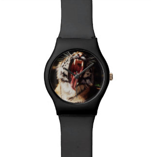 Tiger with mouth open watch