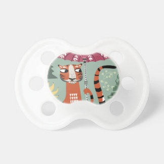 Tiger with parasoll pacifiers