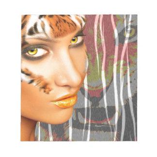 Tiger Woman Notepad