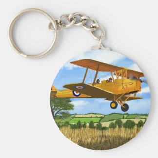 TIGERMOTH FIELDS BASIC ROUND BUTTON KEY RING