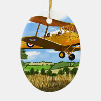 TIGERMOTH FIELDS CERAMIC OVAL DECORATION