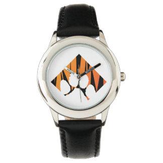 Tigerpaw Stainless Steel Black Watch