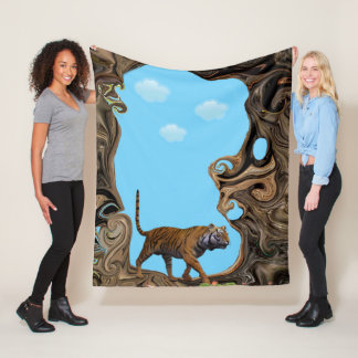 Tigers Adventure. Fleece Blanket