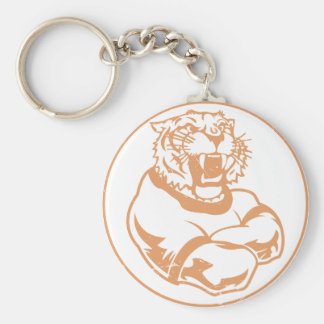 Tigers Basic Round Button Key Ring