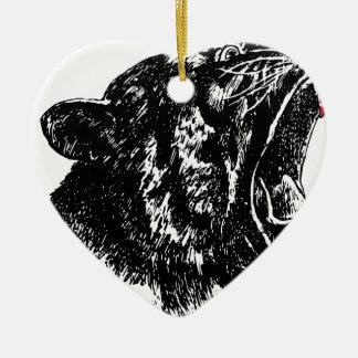 Tiger's Blood Ceramic Heart Decoration
