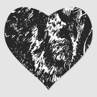 Tiger's Blood Heart Sticker