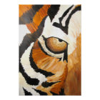 Tiger's Eye (Acrylic by Kimberly Turnbull Art) Poster