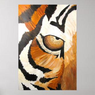 Tiger's Eye (Acrylic by Kimberly Turnbull Art) Poster