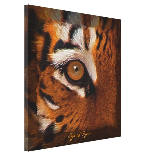 Tiger's Eye Wildlife Supporter Art on Canvas Print