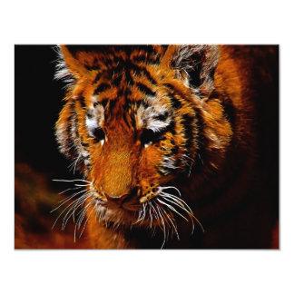 Tigers eyes 11 cm x 14 cm invitation card