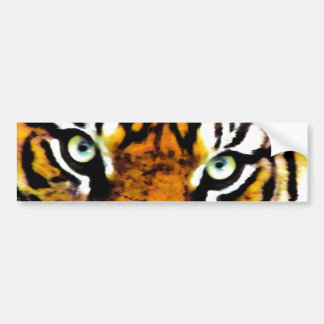 TIGER'S EYE'S_ BUMPER STICKER