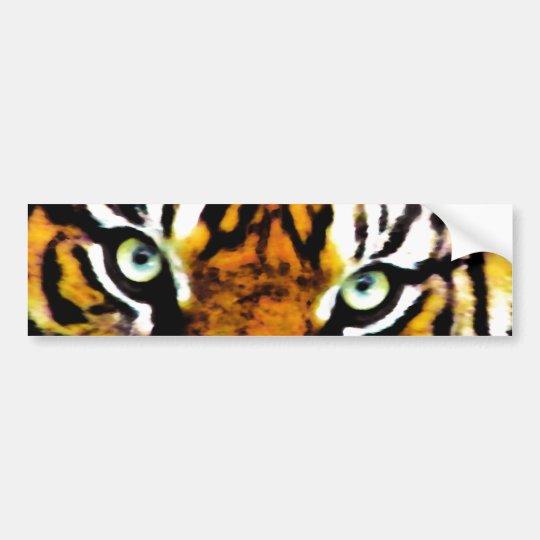 Tigers Eyes_ Bumper Sticker