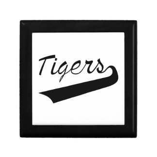 Tigers Lettering Small Square Gift Box