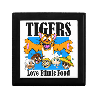 Tigers like Ethnic Food Small Square Gift Box