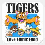 Tigers like Ethnic Food Square Sticker