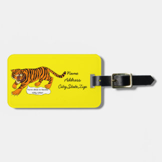 Tigers, Lions and Puns Travel Bag Tag