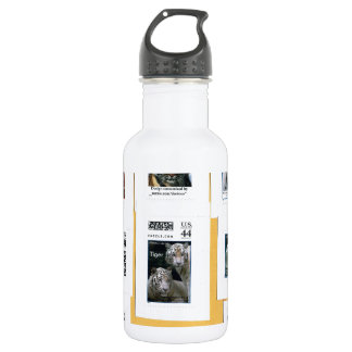 Tigers of all 4 colors 532 ml water bottle