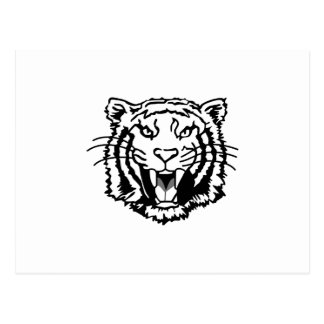 Tigers Outline Postcard