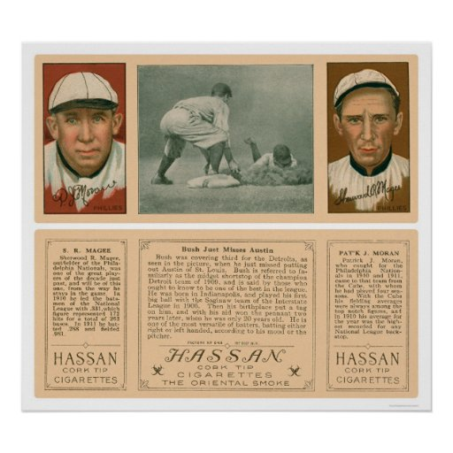 Tigers & Phillies Baseball 1912 Posters