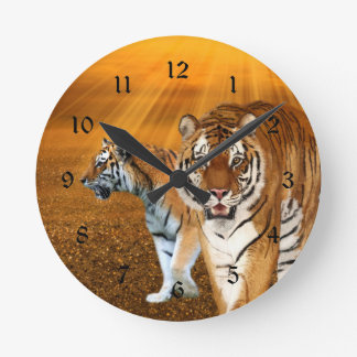 Tigers Round Clock