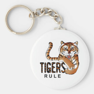 TIGERS RULE KEY CHAIN
