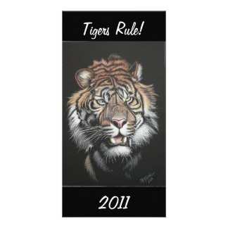 Tigers Rule! Photo Card Template
