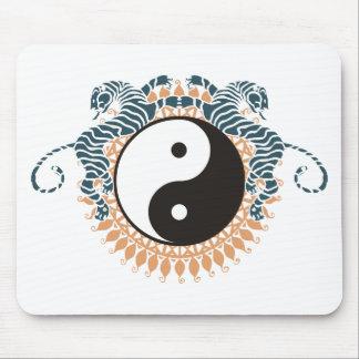 Tigers & Yin Yang Mouse Pad