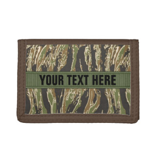 Tigerstripe Camo Personalizable Trifold Wallet