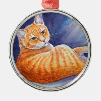 Tigg the Orange Tabby Cat Christmas Ornament