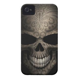Tight Decorated Dark Skull Case-Mate iPhone 4 Case
