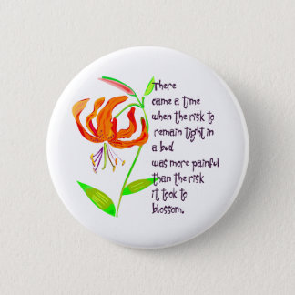 Tight in a Bud 6 Cm Round Badge