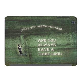 Tight line | waders never leak, Fly fishing wish iPad Mini Cover