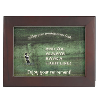 Tight line | waders never leak, Fly fishing wish Keepsake Box