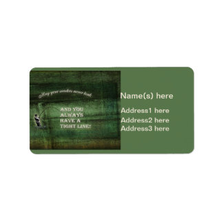 Tight line | waders never leak, Fly fishing wish Address Label