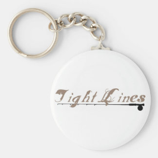 Tight Lines Basic Round Button Key Ring